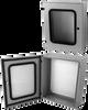 Wall Mount Single Door Vision w/Window -- V-GW-242408