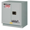 Justrite 19 gal Silver Hazardous Material Storage Cabinet - 30 in Width - 35 3/4 in Height - Floor Standing - 697841-13090 -- 697841-13090