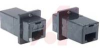 Modular Coupler, RJ12 (6x6), Straight, Black, Deluxe Panel, 50 microinches gold -- 70126389