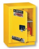 Justrite 15 gal Silver Hazardous Material Storage Cabinet - 24 in Width - 35 3/4 in Height - Floor Standing - 697841-13082 -- 697841-13082-Image