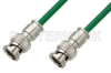 75 Ohm BNC Male to 75 Ohm BNC Male Cable 60 Inch Length Using 75 Ohm PE-B159-GR Green Coax -- PE38130/GR-60 -Image
