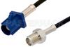 SMA Female to Blue FAKRA Plug Cable 48 Inch Length Using RG174 Coax -- PE39345C-48 -Image