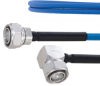 Plenum Low PIM 4.3-10 Male to RA 4.3-10 Male Cable SPP-250-LLPL Coax in 12 Inch Using Times Microwave Parts and RoHS -- FMCA1846-12 -Image