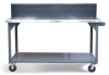 Shop Table With Casters and Stainless Steel Top -- T7236-RS-CA-SSTOP - Image
