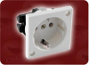 EURO WALL SOCKET WHITE -- 8500.MSBW