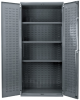 Akro-Mils Gray Powder Coated Steel 18 ga Non-Stackable Bin Cabinet - 24 in Overall Length - 36 in Width - 78 in Height - Lockable - AC36243AS -- AC36243AS
