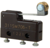 MICRO SWITCH SM Series Subminiature Basic Switch, Single Pole Double Throw (SPDT), 250 Vac, 4 A, Roller Lever Actuator, Solder Termination -- 311SM706-T -Image