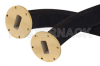 WR-137 Twistable Flexible Waveguide 36 Inch, UG-344/U Round Cover Flange Operating From 5.85 GHz to 8.2 GHz -- PE-W137TF005-36 -Image