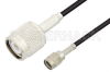 Reverse Polarity SMA Male to TNC Male Cable 48 Inch Length Using RG174 Coax -- PE35218-48 -Image