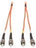 Duplex Multimode 62.5/125 Fiber Patch Cable (ST/ST), 50M (164-ft.) -- N302-50M
