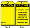 Blank Accident Prevention Tags (Black on Yellow; CAUTION; 5 3/4