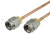 SMA Male to SMA Male Cable RG405 Type .086 Coax in 9 Inch -- FMC0202988-09 -Image