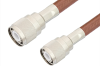 HN Male to HN Male Cable 12 Inch Length Using RG393 Coax -- PE3340-12 -Image