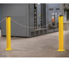 RELIUS SOLUTIONS Steel Bollards with Chain Link Slots -- 7697800