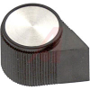 Knob; ABS; Pointer; Black; 1/4 in.; 0.700 in.; Gloss -- 70206983