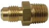 Brass Flare to Male Pipe Gas Range Fitting -- No. 48-GF