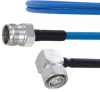 Plenum Low PIM RA 4.3-10 Male to 4.3-10 Female Cable SPP-250-LLPL Coax in 150 cm Using Times Microwave Parts and RoHS -- FMCA1897-150CM -- View Larger Image