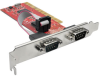 2-Port DB9 (RS-232) Serial PCI Card with 16550 UART, Full Profile -- PCI-D9-02