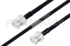 MIL-DTL-17 BNC Male to BNC Male Cable 12 Inch Length Using M17/84-RG223 Coax -- PE3M0029-12 -Image