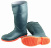 Sureflex by OnGuard 87983 Plain Toe Kneeboot with Safety-Loc Outsole - Gray/Orange,10 -- 791079-15136