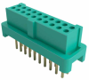 10+10 Pos. Female DIL Vertical Throughboard Conn. for Latches (T+R) -- G125-FV22005L0R - Image