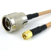 N Male to SMA Male Cable RG-142 Coax in 120 Inch -- FMC0102143-120 -Image