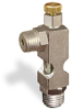 "(Formerly B1628-8X00), Angle Small Sight Feed Valve, 1/4"" Male NPT Inlet, 1/4"" Male NPT Outlet, Handwheel -- B1628-144B1HW -Image"