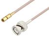 BNC Male to SSMC Plug Cable 36 Inch Length Using RG316 Coax -- PE3C4413-36 -Image