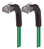 Category 6 Right Angle Patch Cable, Right Angle Up/Right Angle Up - Green 5.0 ft -- TRD695RA5GR-5 -- View Larger Image