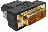 HDMI Female to DVI-D (24+1) Male Molded Adapter -- 30HM-15328