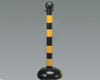 Round Bollard Black and Yellow Stripe Bradylink™ -- 75447392123-1 - Image