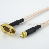 MMCX Plug (Male) to RA SMC Plug (Male) Cable M17/113-RG316 Coax Up To 3 GHz in 12 Inch -- FMC0928316-12 -- View Larger Image