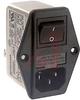EMI POWER LIN FILTER, MULTI FUNCTION MOD, W/O VOLT SELECT, W/IEC CONN, DBL FUSE -- 70133417 - Image