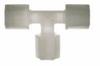Fitting, Compression union tee, PVDF, 1/8