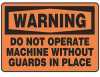 Warning Sign,10 x 14In,BK/ORN,PLSTC,ENG -- 9AZT6