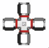 Superlok I-Fitting Compression Tube Fitting - SUCI Union Cross - Image
