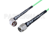 N Male Right Angle to TNC Male Low Loss Cable 100 CM Length Using PE-P160LL Coax -- PE3C5282-100CM -Image