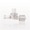 Dual Check Valve, Tubing Port Inlet, Male Luer Lock with Swivel Nut Outlet, Female Luer Lock Control Port -- 79003 -- View Larger Image