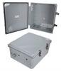 14x12x06 Polycarbonate Weatherproof NEMA 4X Enclosure, Modified Base Dark Gray -- NBPC141206-02 -Image