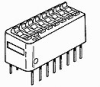TE Connectivity 5435166-5 DIP, Rotary DIP, SIP Switches and DIP Shunts - Standard -- 5435166-5