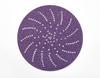 3M 732U Coated Ceramic Aluminum Oxide Hook & Loop Disc - 150 Grit - 5 in Diameter Multi-Hole Vacuum Holes - 64261 -- 076308-64261 - Image