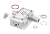 Type N F/F In/Out Coax RF Surge Protector, 800MHz - 2.5GHz, DC Pass, 300W, IP67, 20kA, Hybrid, Bracket Toward Body -- PE73SP1014 -Image