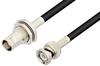 BNC Male to BNC Female Bulkhead Cable 24 Inch Length Using PE-C195 Coax -- PE38804-24 -Image