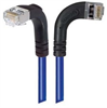 Shielded Category 6 Right Angle Patch Cable, Right Angle Right/Right Angle Down, Blue, 30.0 ft -- TRD695SRA10BL-30 -Image