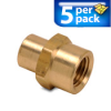 Connector Air Fitting: female, brass, for 1/4in NPT to 1/8in NPT, 5/pk -- BFFC-14N-18N -- View Larger Image