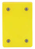 Weatherproof Cover,Blank Plate,Yellow -- 4UFT8