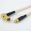 MMCX Plug to RA SMB Plug Cable RG316 Coax in 48 Inch -- FMC0926316-48 -Image