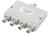 4 Way 2.92mm Power Divider from 18 GHz to 40 GHz Rated at 20 Watts -- PE20DV1069 -Image