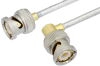 BNC Male to BNC Male Right Angle Cable 24 Inch Length Using PE-SR402FL Coax -- PE35580-24 -Image