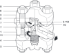 High Pressure Thermodynamic Steam Trap with Replaceable Seat -- TD120M - Image